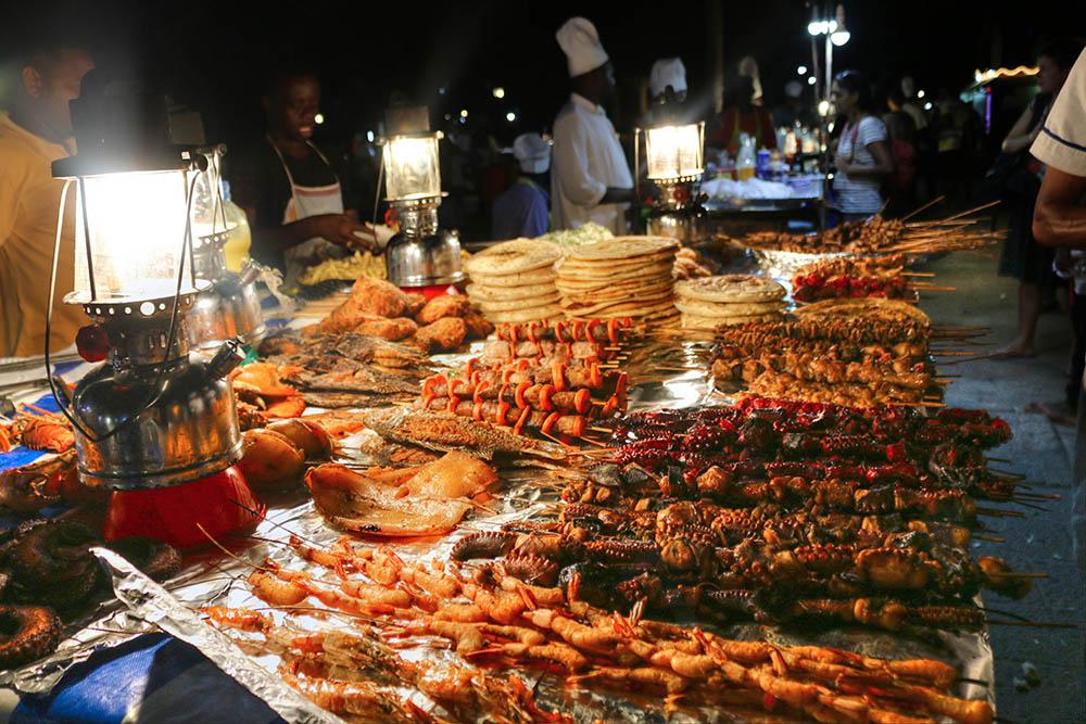 Forodhani Gardens Seafood display