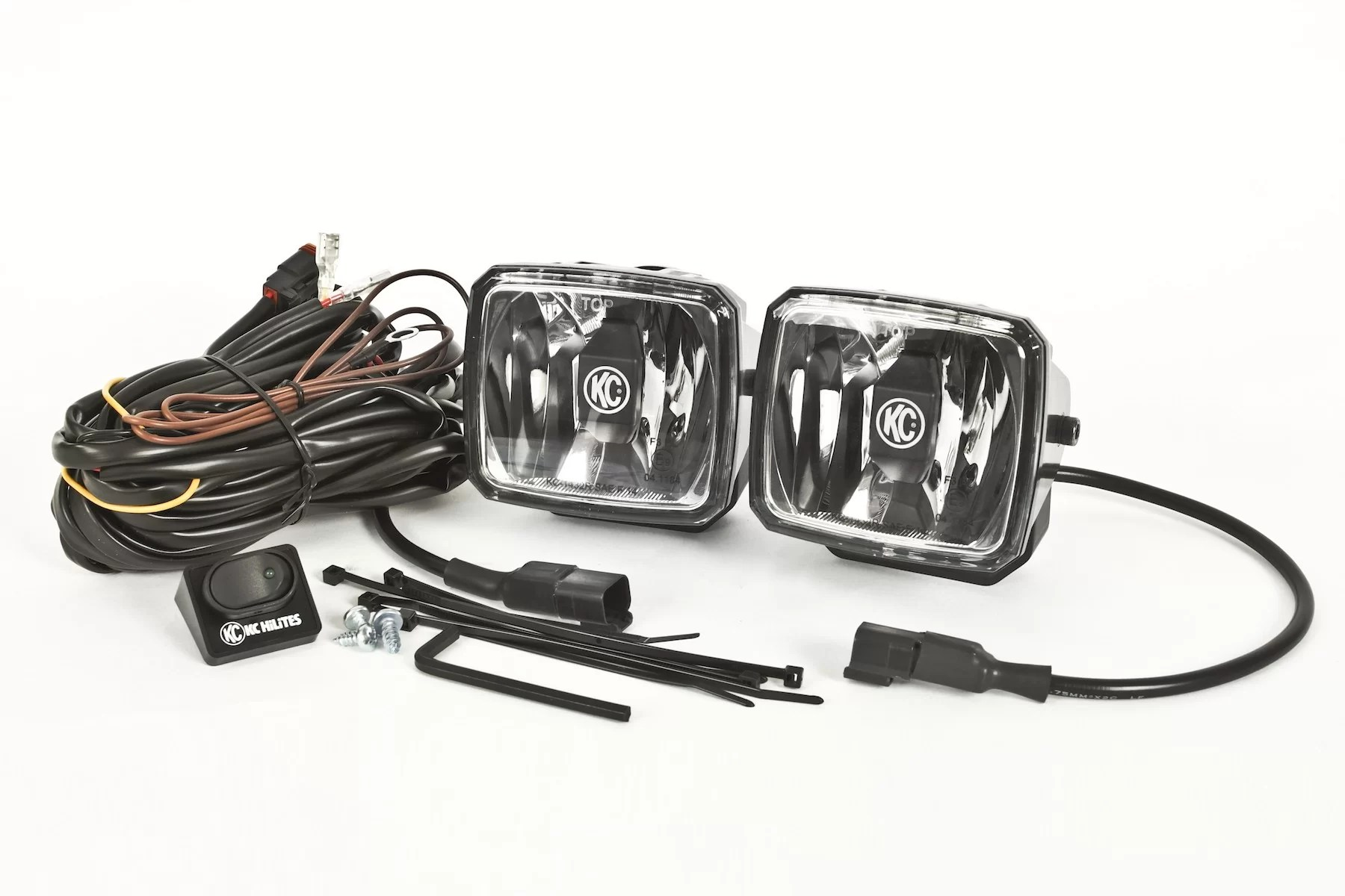 hight resolution of kc hilites gravity 34 spotlight set with wiring harness