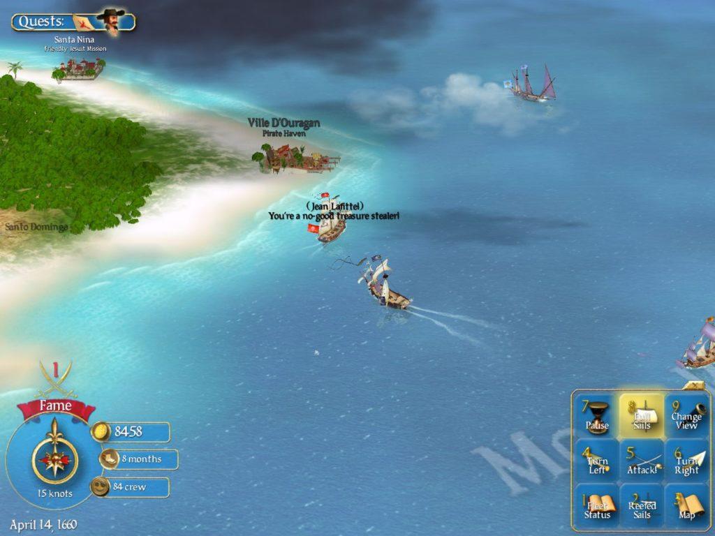 Sid Meier's Pirates - Screenshot