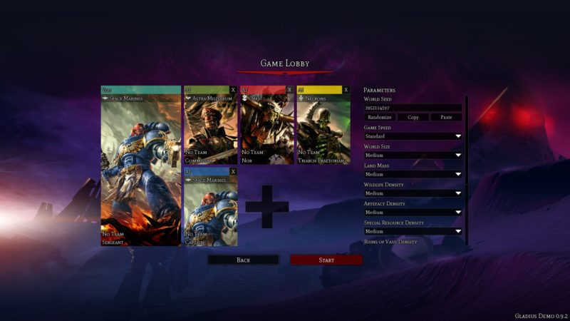 Le fazioni disponibili in Warhammer 40,000: Gladius - Relics of War