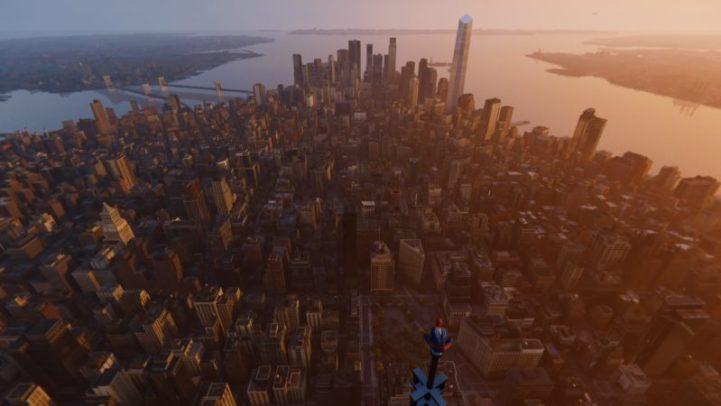 Spider-Man panorama NY