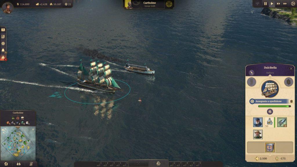 Anno 1800, navi a vapore