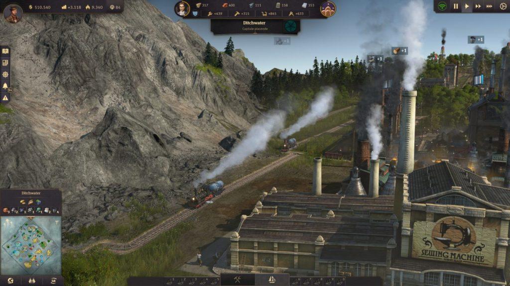 Anno 1800, treno
