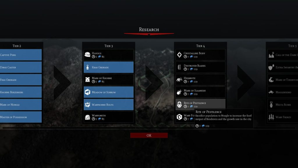 Warhammer 40,000 Gladius – Chaos Space Marines ricerca