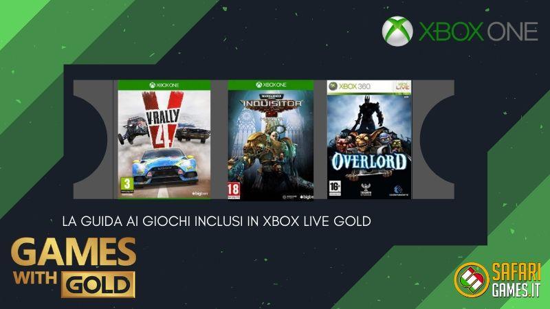 Games with Gold per maggio 2020