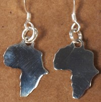 Africa Shaped Earrings | Safari Gold