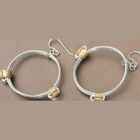 Silver Earrings with Gold Knots | Safari Gold