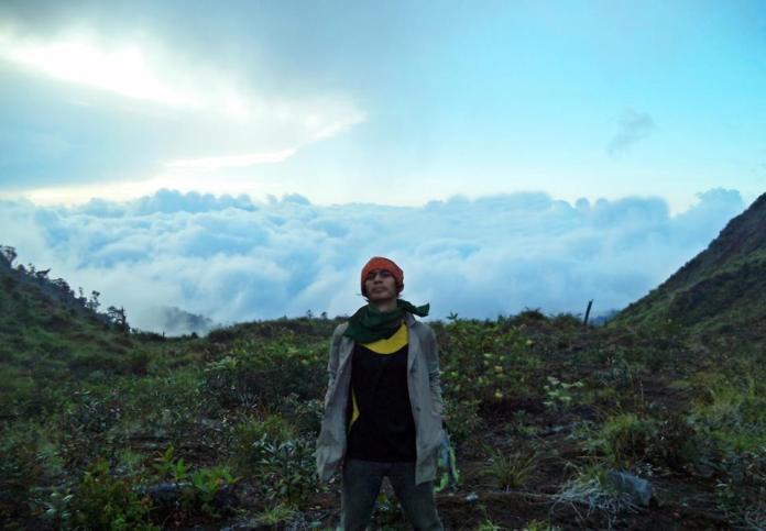 Salah satu ekspresi pendaki. Photo: IST
