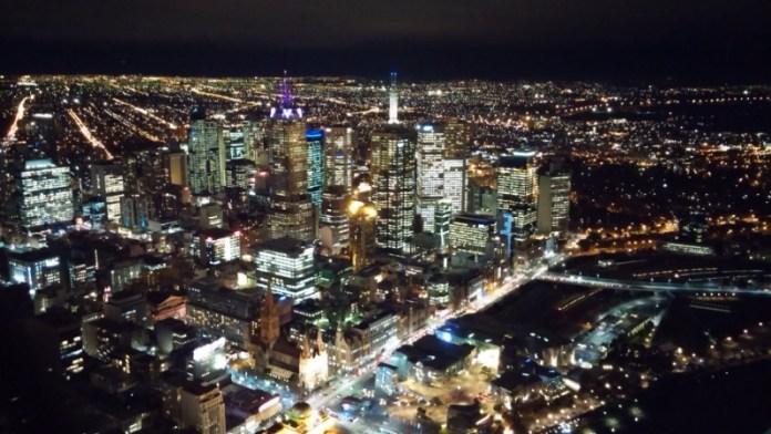 Melbourne Night Eureka Skydeck