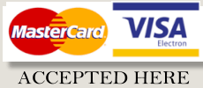 Debits and Credit Cards Accepted Here