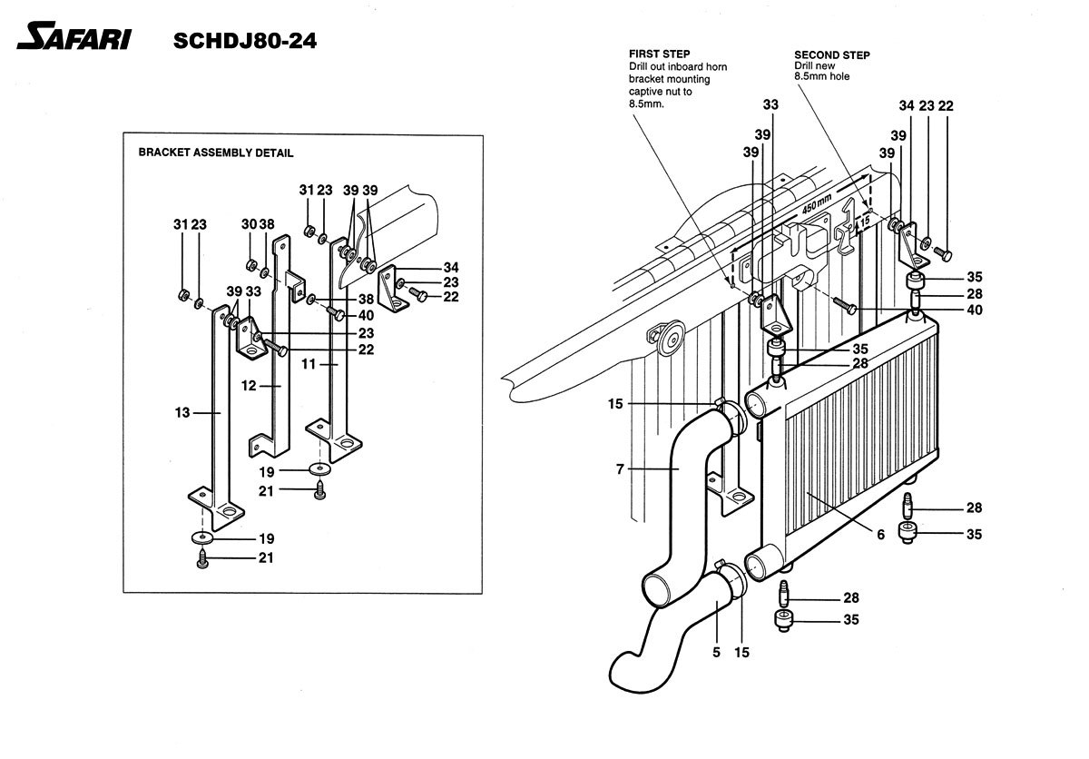 Safari Diesel Intercooler System for the Toyota Land