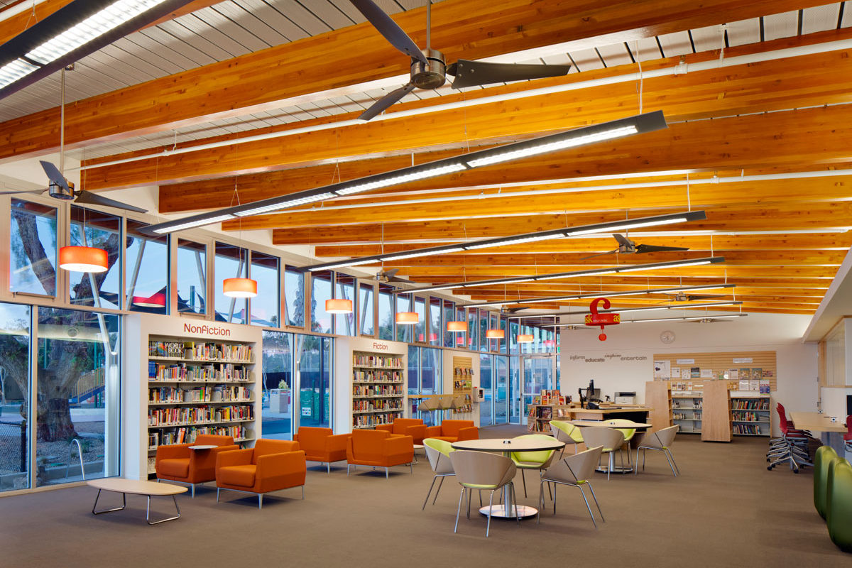 Lincoln Acres Library and Community Room  Safdie Rabines Architects