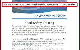 Northwest Territories - Food Safety Course Approval A
