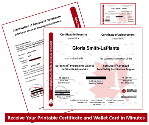Certificate and Wallet Card
