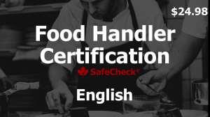 English Language Food Handler Course
