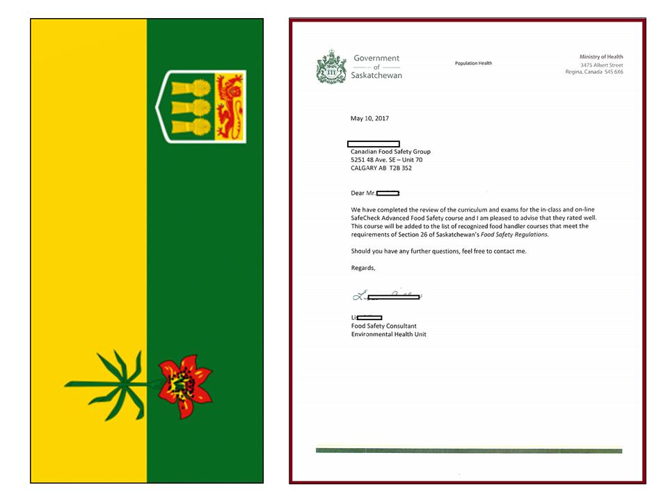 Saskatchewan Approval