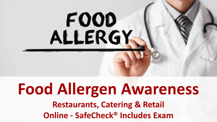 Food Allergen Awareness Course for Restaurants, Catering & Retail