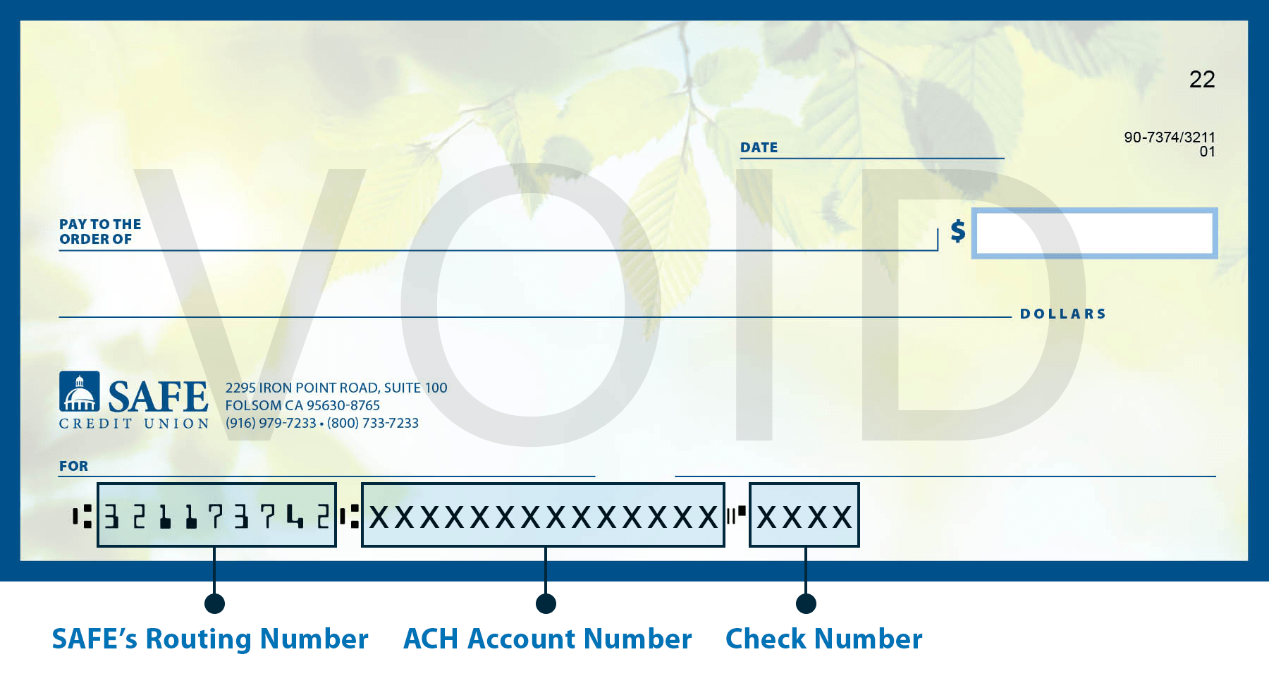 hight resolution of direct deposit check