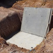 Precast concrete panel collapse