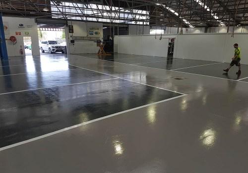 smash repair shop flooring 9