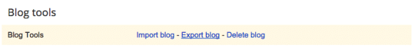 how to export blogger blog