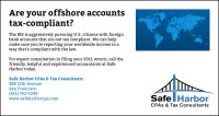 Are your off-shore accounts tax compliant? Safe Harbor's ...