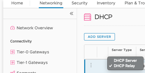 DHCP Server Type