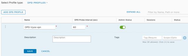 NSX-t DPD profile