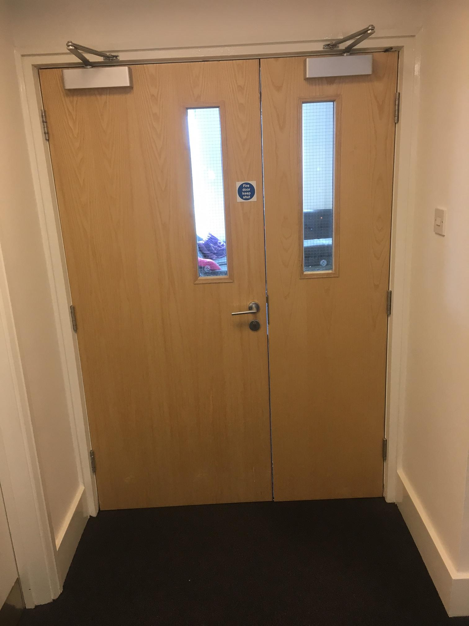 Double Door With Gap In The Middle Fire Doors And