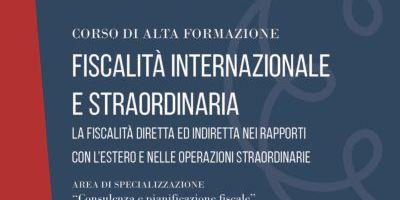 Fiscalità internazionale e straordinaria – Bologna – 2019 / 2020