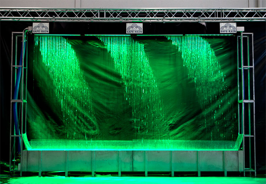 Cortina de agua digital lineal
