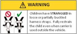 RF Strangulation Warning Label