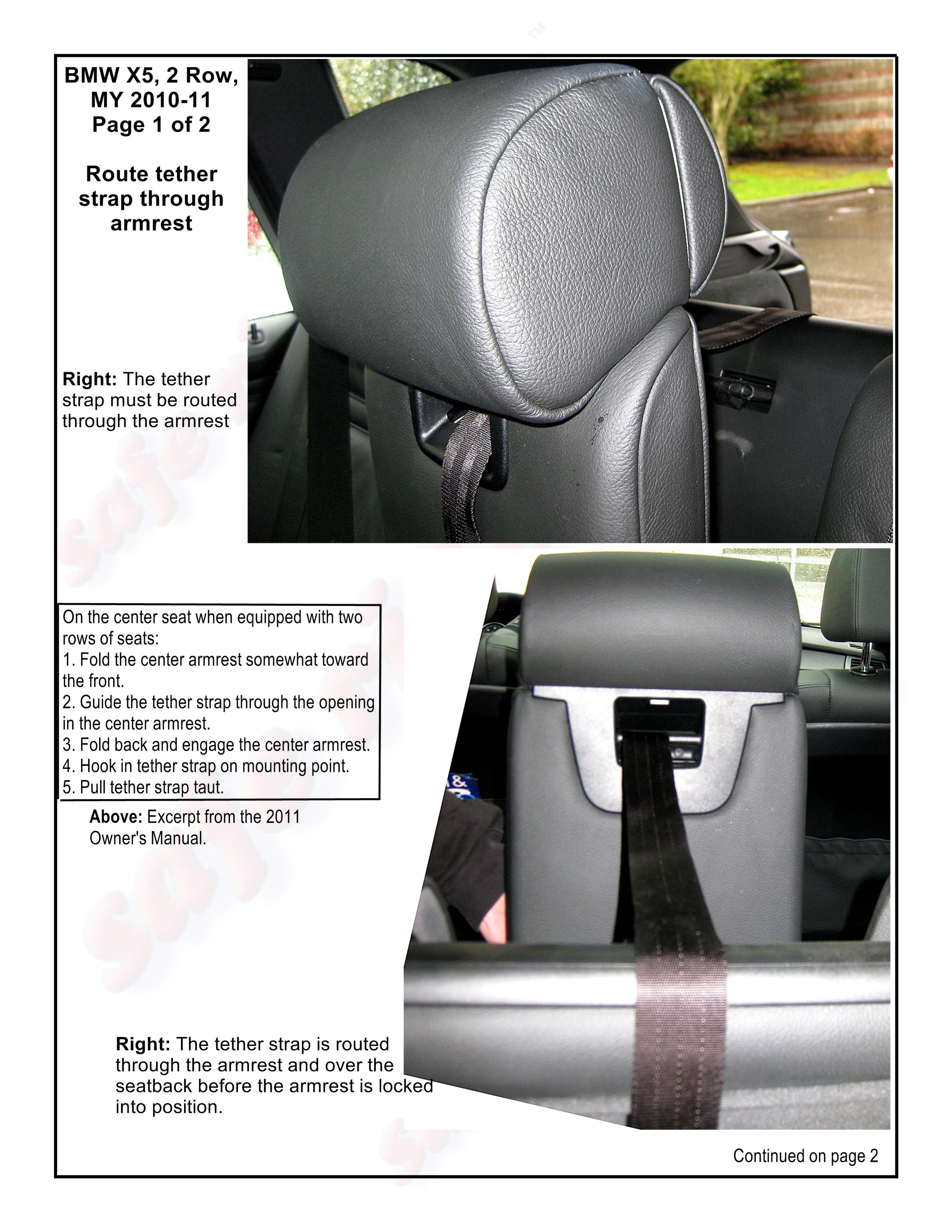 BMW X5, 2nd Row, MY 2010-2011, Page 1 of 2