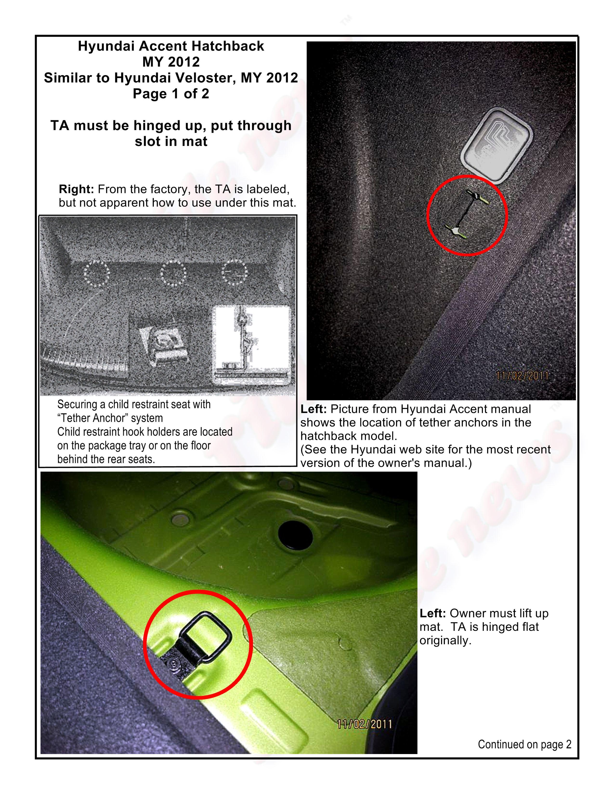 Toyota RAV4 Service Manual: Child restraint seat tether anchor