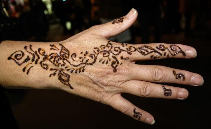 gambar henna simpel