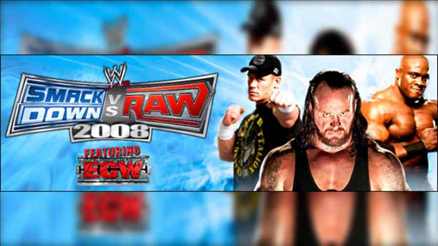 WWE SmackDown vs Raw 2008 PS2 ISO Highly Compressed