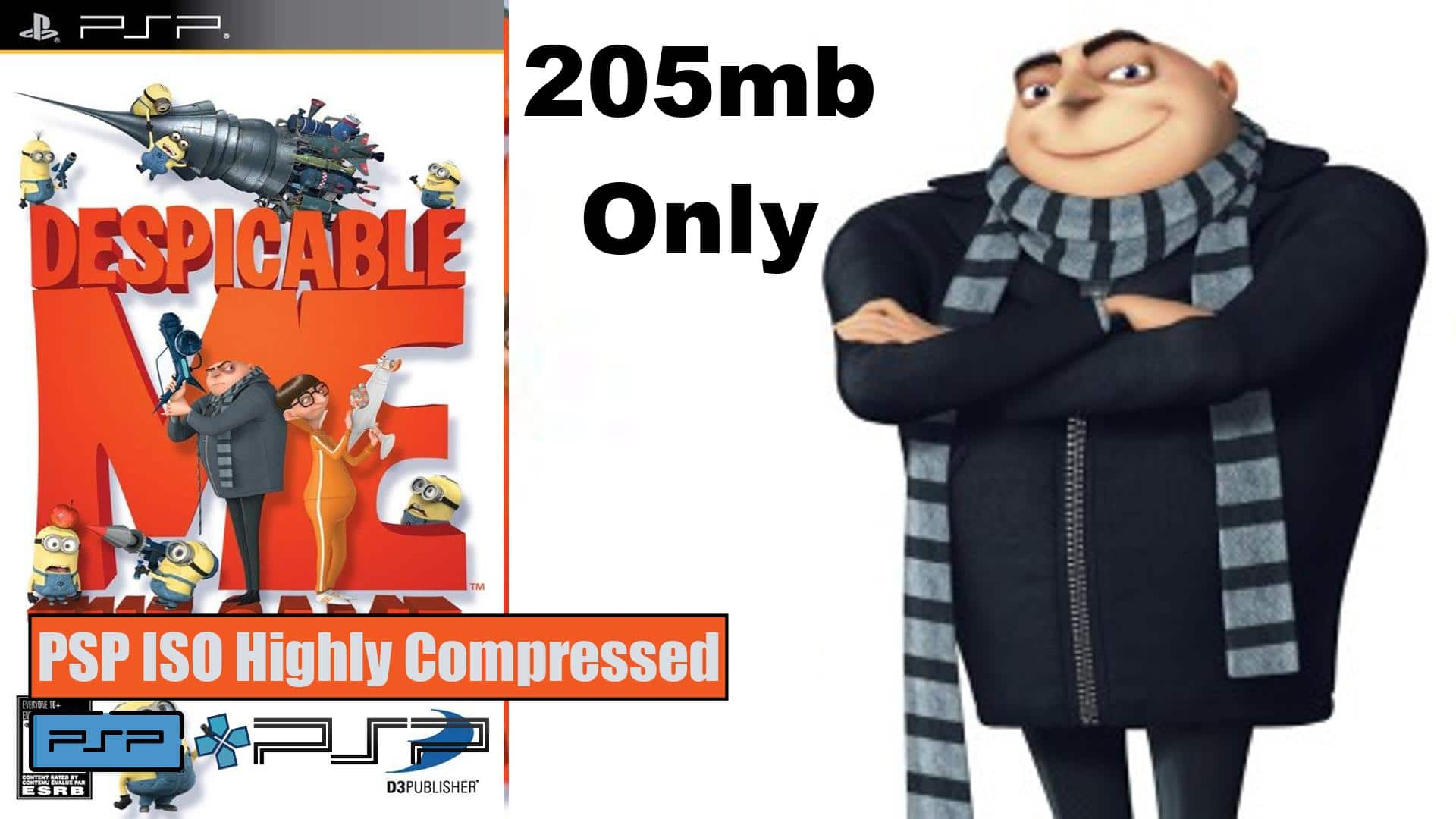 Despicable Me PSP ISO Highly Compressed