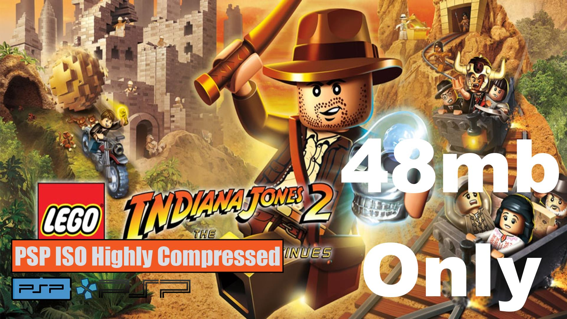 Lego Indiana Jones 2 The Adventure Continues PSP ISO Highly Compressed