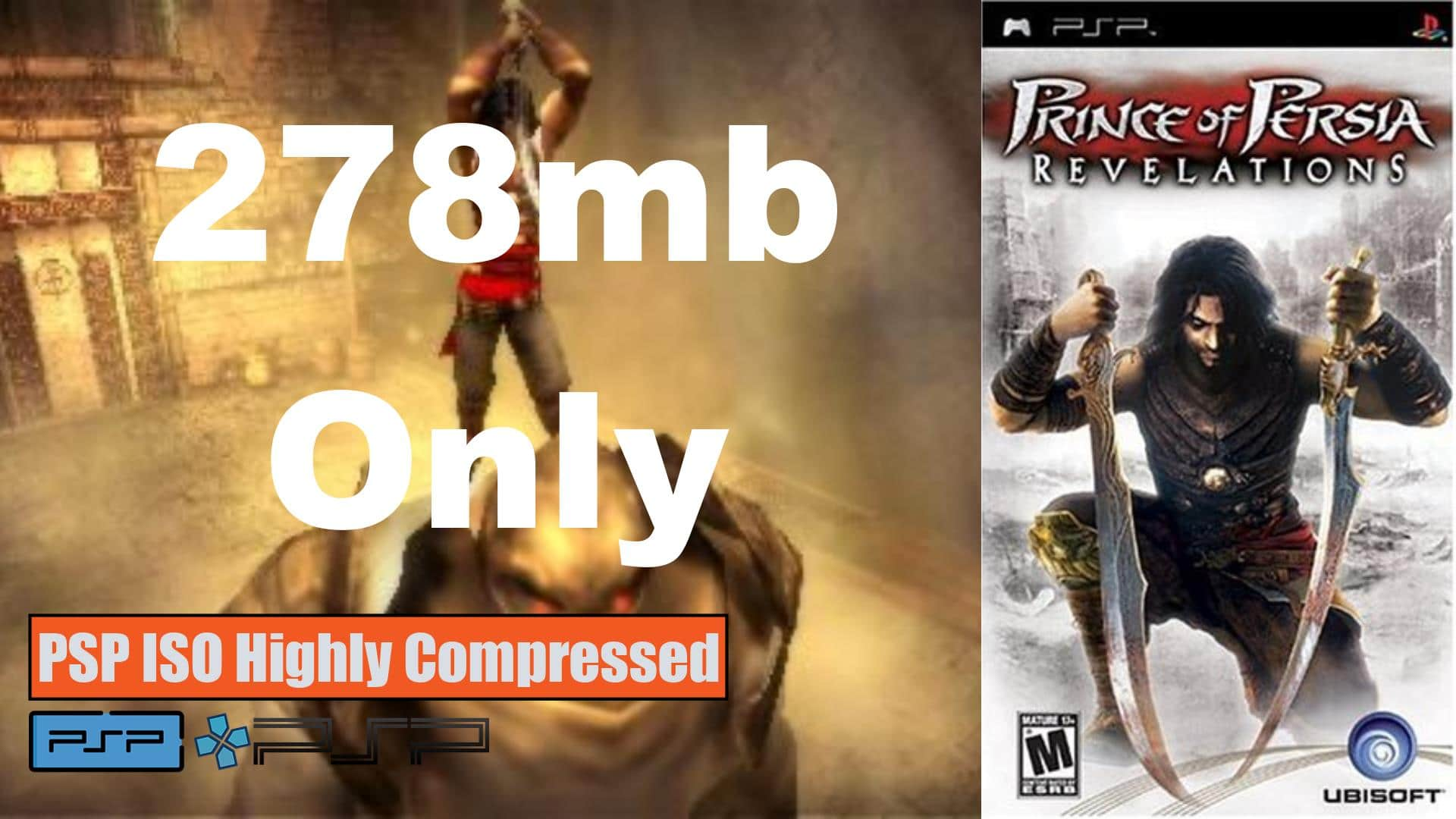 Prince of Persia Revelations PSP ISO Highly Compressed