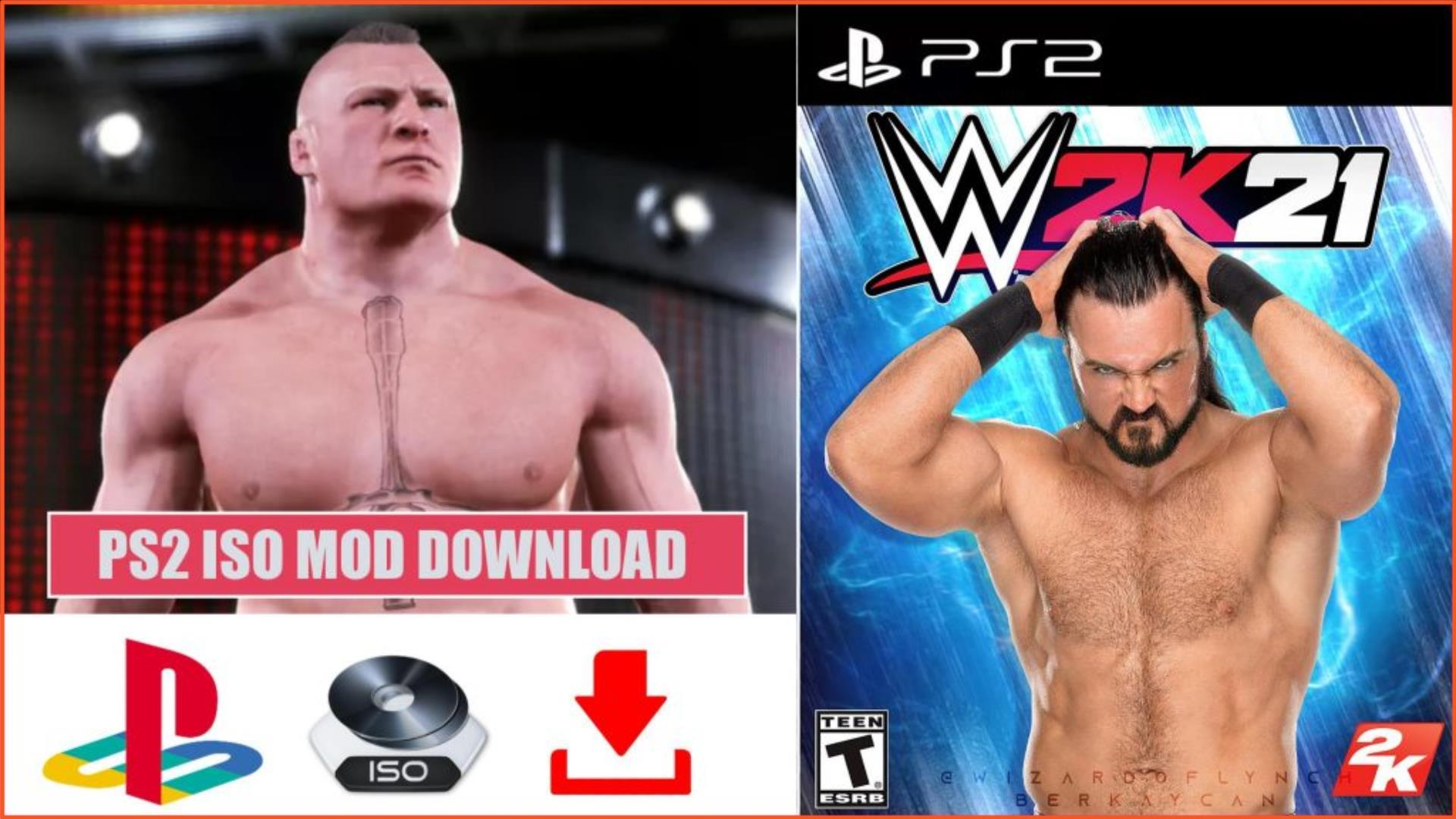 WWE 2K21 SmackDown vs Raw Here Comes The Pain PS2 ISO Download