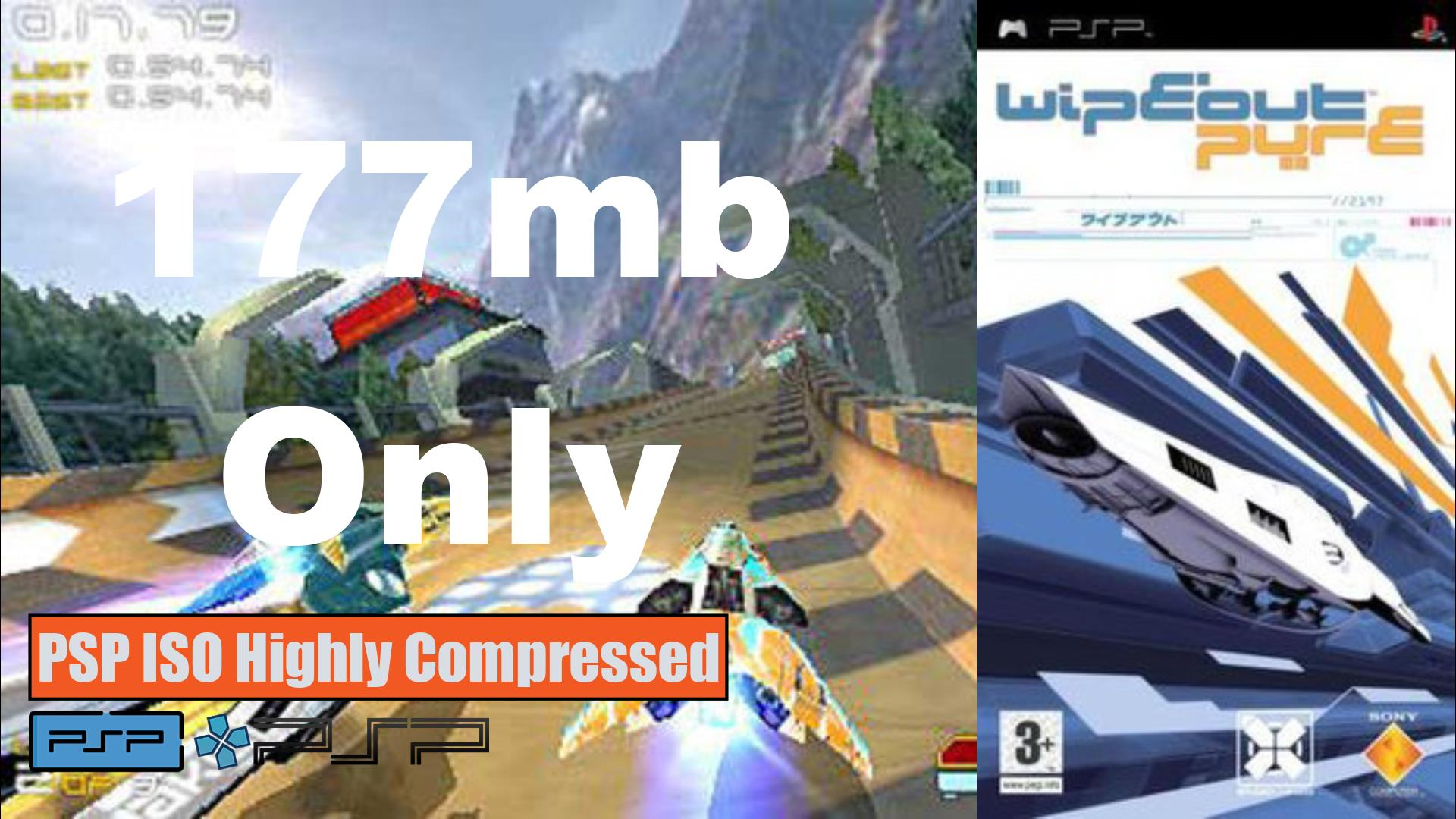 Wipeout Pure PSP ISO Highly Compressed