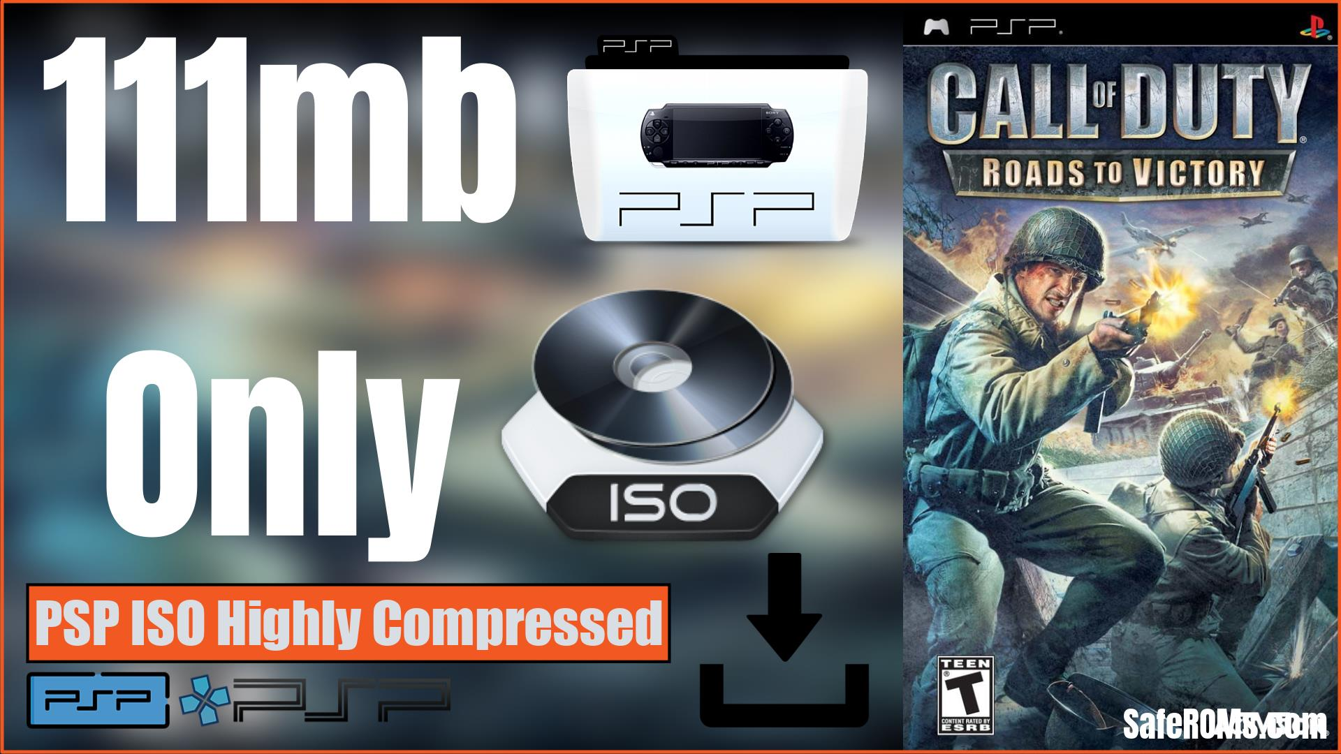 Call of Duty Roads to Victory PSP ISO Highly Compressed