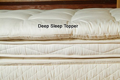 Supremely Soft And Fluffy Dreamland Organic Wool Mattress Topper