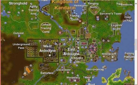 Runescape Classic World Map