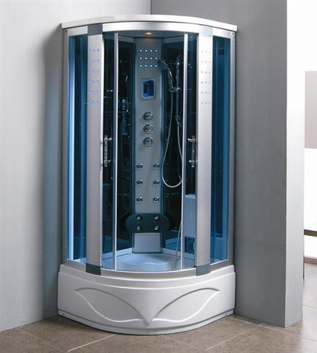 Brand New Comforting Corner Shower Room With Massage Jets  LCD Display
