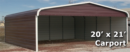 20 X 21 Metal Carport Cover With 3 Sides Installation