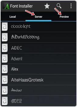 Font Installer settings