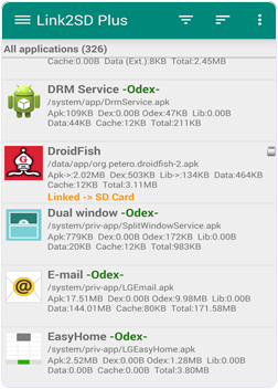 Android Link2SD plus hide app