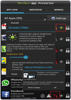 android Perfect App Protector app