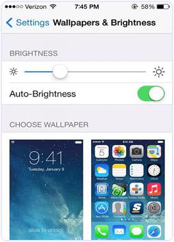 iPhone Turn On Auto Brightness